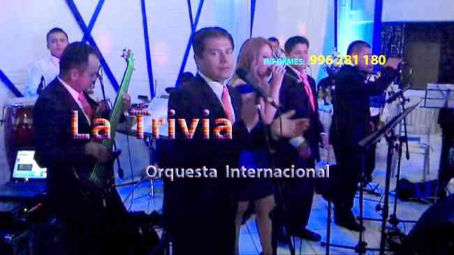 ORQUESTA MUSICA VARIADA EN VIVO ORQUESTA LA TRIVIA LIMA PERU MATRIMONIOS FIESTAS