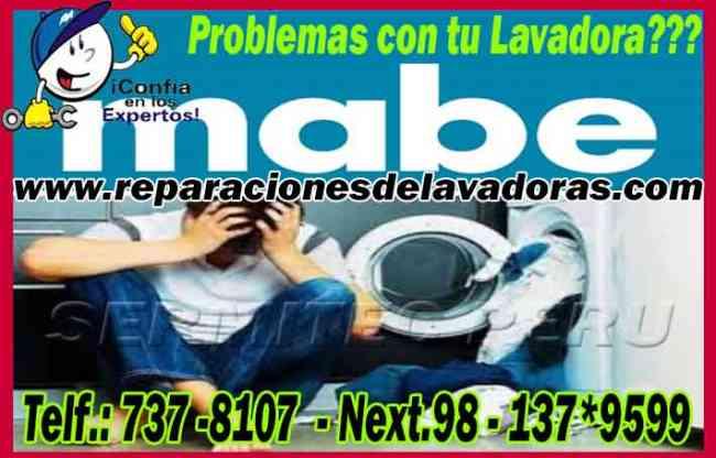 ·!¦[·Reparaciones de Lavadoras Mabe (Rimac) 2761763·]¦!