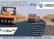 Ofertamos asfaltos x stock en cilindros de 55 glns