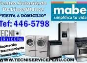 San borja /446-5798/ servicio tecnico de lavadoras mabe electrolux