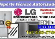 """Hoy dia """"446-5798"""" servicio tecnico de refrigeradoras lavadoras lg"""