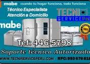 Nice (446-5798) servicio tecnico de refrigeradoras lavadoras mabe