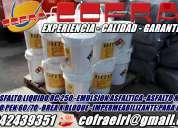 Venta de manto asfaltico y membrana asfaltica a nivel nacional y de muy buena calidad