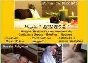 Masajes  en lima exclusivos para hombres maduros,gorditos,contextura gruesa 988505685