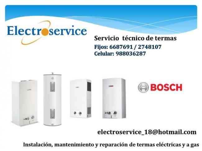 BOSCH- sole* Rheem* aquamax // servicio técnico de termas todo ..LIMA 6687691