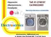 Técnico en reparación lg  6687691 /*lavadoras digitales semi automáticas... en lima callao
