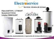 ♫♣servicio tecnico + mantenimiento de terma calorex {{6687691}}