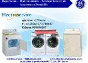 Servicio tecnicos de lavadoras  general electric 6687691 en lima