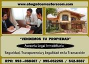 Quieres vender tu propiedad