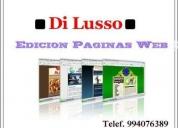 Edicion paginas web full negocios