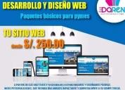 Oportunidad! desarrollo y diseño web, lima