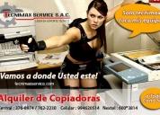 servicio técnico de fotocopiadoras y alquiler