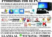 Servicio tecnico de computadoras, laptops