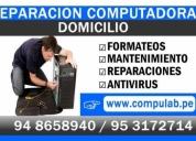 Reparación de computadoras a domicilio,contactarse.