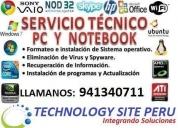 Oportunidad! servicio técnico de computadoras garantizado, lima