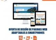 oferta de diseño de páginas web