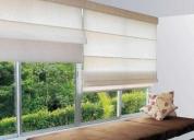 Arreglo de estores, rollers y cortinas