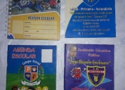 Agendas escolares cuadernos de control