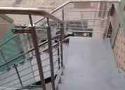 Fabricación de escaleras y estructuras metalicas, contactarse.