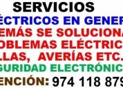 Servicios elÉctricos en general, contactarse.