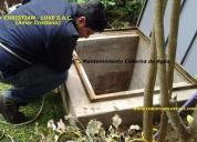 Limpieza de reservorios de agua, tanques, cisternas, lima
