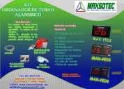 Ordenadores de turnos alambricos e inalambricos /maxsotec a su servicio