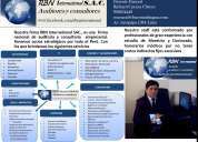 Tribuario finanzas  estudio contable   sociedad de auditoria  rbn international sac