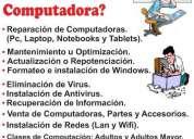 Reparacion y mantenimiento de computadoras, contactarse.