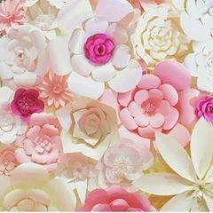 Decoración Flores de Papel Boda Cumpleaños Bautizo