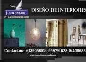 Diseño de interiores y remodelaciones de inmuebles, contactarse.