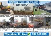Reparación asfaltado en bacheos parches perú 2020