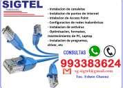Instalacion de puntos de internet y soporte tecnico a viviendas y empresas