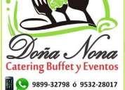 DoÑa nona catering buffet & eventos, contactarse.