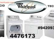 Servicio tecnico whirlpool lavadora secadora 4476173