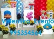 Pocoyo, decoraciones temáticas y personalizadas para fiestas, contactarse.