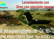 Dron topografía, levantamiento con gps diferencial