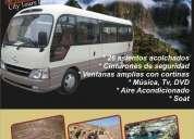 Movilidad en buses, custer y vans.