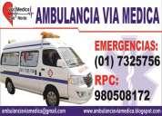 Servicio de ambulancias, alquiler y traslados de pacientes