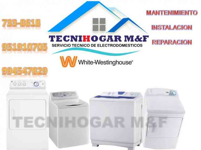 Servicio Técnico de secadoras lavadoras White Westinghouse CEL:920247401