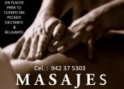 Masajes en lima siente el calor corporal masculino