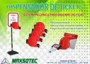 Maxsote eirl / expendedor de tickets color rojo y azul /parante de metal negro(opcional)/contactenos