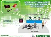 Maxsotec eirl /ordenador de turnos con pantalla electrÓnica /alambrica e inalambrica/con software