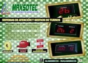 Turnomaticos - kit ordenador de colas /maxsotec eirl / contactenos y solicite su cotizaciÓn/lima