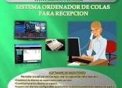 Maxsotec/ordenador de turnos con software para recepciÓn/solicite /demostraciÓn del sistema/lima