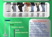 poste ordenador de colas : cromado ,mixto,pop pvc negro/con cinta retrÁctil/maxsotec/solicitelos