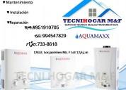 Aquamaxx servicio técnico de termas bosch  en lima (01) 410-8759
