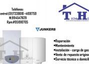 Junkers servicio técnico de termas reparaciones garantizado 7338618 a domicilio 410-8759