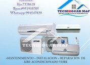 Mantenimiento y reparacion  de aire acondicionado 4108759 a domicilio lennox