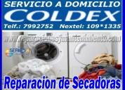 Lavasecas-coldex**/7378107 servicio tecnico especial en san isidro