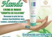 Crema cosmética para manos hands luva de silicone
